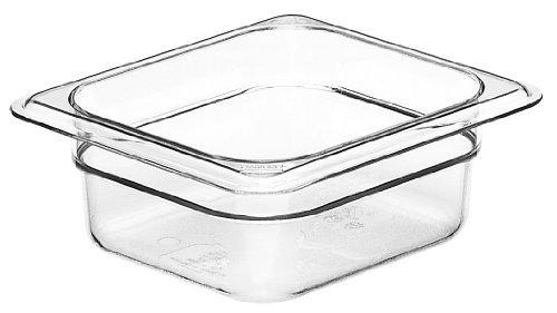 Cambro Camwear 62CW135 Food Pan, 1/6 by 2-Inch, Clear