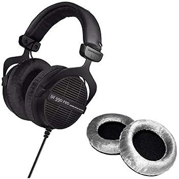 Beyerdynamic DT 990 PRO Studio 250 OHM Headphones (Ninja Black, Limited Edition) with Extra Set of Earpads (Silver) Bundle