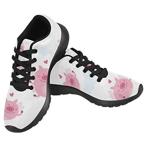InterestPrint Women's Jogging Running Sneaker Lightweight Go Easy Walking Casual Comfort Sports Running Shoes Size 8 Cute Pig by InterestPrint