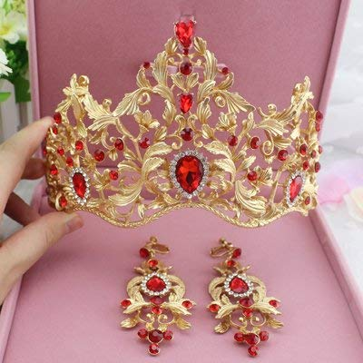 (Feminine European Retro Palace Queen Baroque Golden Crown/Headpiece/Wedding Wedding Ornament/Bride Wedding Headpieces/Tithe 1 Set)