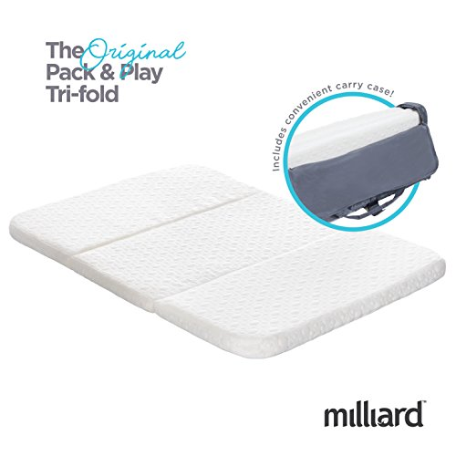 (Milliard Tri-Fold Pack N' Play Mattress)