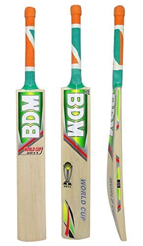 World Cup 2011 BDM Adult Sizes English Willow Wood Cricket Bat With Carry Case - Choose Weight