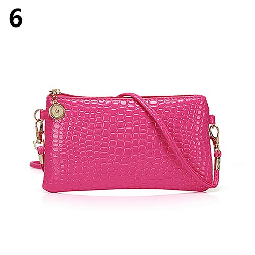 Women Faux Leather Zipper Clutch Mini Cross Body Shoulder Bag Phone Bag by Shengyuze (Image #8)