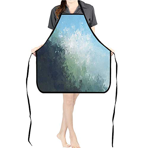 Jiahong Pan Kitchen Apron brushe painte backgroun Brush Stroke Paint Durable 100% Restaurant Aprons K26.6xG27.6xB10.2