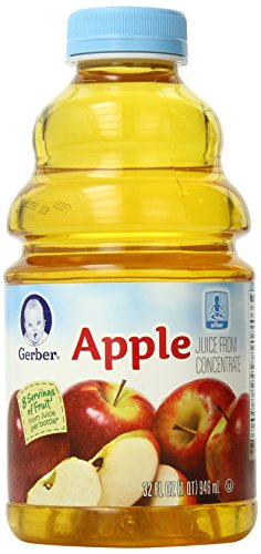 Gerber Apple Juice, 32-Ounce Bottles (Pack of 6)