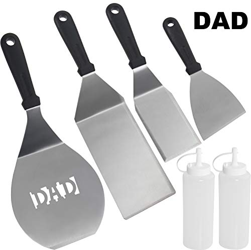 ROMANTICIST 6pc Dad Grill Griddle Accessories Set – Perfect Great BBQ Gift for Men Dad on Fathers Day – Heavy Duty…