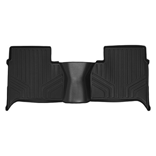 SMARTLINER Custom Fit Floor Mats 2nd Row Liner Black for 2011-2014 Volkswagen Amarok