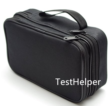 TestHelper TH19 Double Layered Padded Carrying Zipper Soft Case with Wrist Strap Use for Multimeter Meter