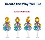 4 Pack Balloon Stands Kit Centerpieces with Balloon Garland Chain and Balloon Tie Set for Table Birthday Baby Shower Wedding Decoration by Party Zealot