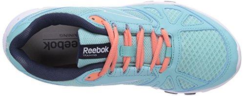 Reebok Yourflex Trainette RS 6.0 - Zapatillas para deportes de interior de material sintético para mujer azul - Blau (Crystal Blue/Coral/Faux Indigo/White)