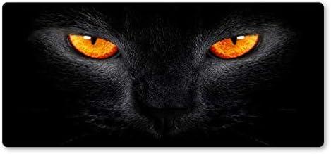 DHLZ Alfombrilla de ratón Ojos Amarillos Gato Negro Alfombrilla de ...
