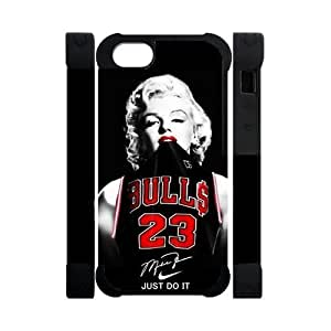 Fashion Funny NBA Chicago Bulls Michael Jordan Apple Iphone 5S/5 Case Cover Dual Protective Polymer Cases Marilyn Monroe NIKE JUST DO IT