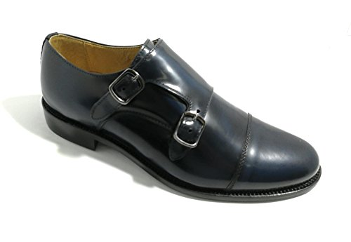 320 in Abrasivato Allacciatura Original Shoes Models Vero Fondo in Made Italy Cuoio Bryan Cuoio Blu Fibbia q0gRnxwI