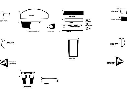 Rdash Dash Kit Decal Trim for Mercedes-Benz SL-Class 1994-2002 - Wood Grain (Burlwood Honey)