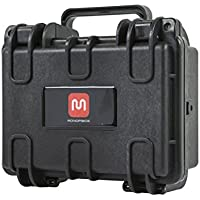 Monoprice Weatherproof / Shockproof Hard Case - Black IP67 level dust and water protection up to 1 meter depth with Customizable Foam, 8 x 7 x 4