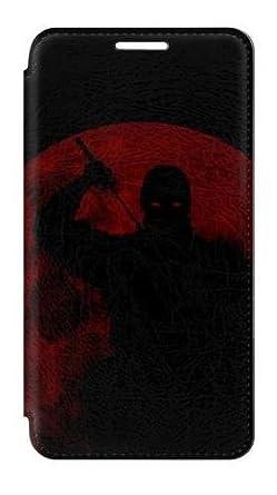 Amazon.com: RW2558 Ninja Shadow Red Moon Flip Case Cover For ...
