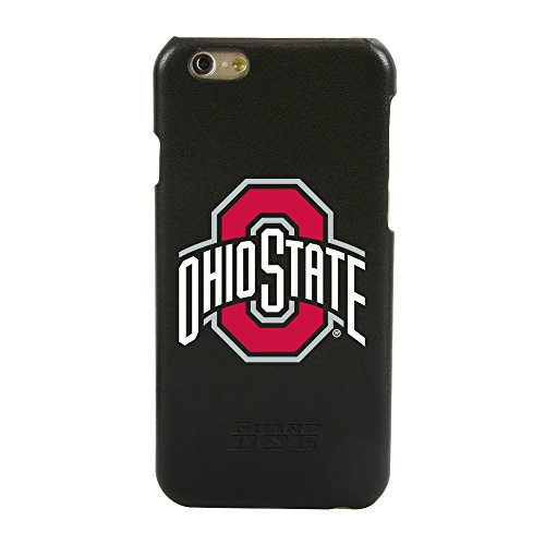 Ohio State Buckeyes Guard Dog Genuine Leather Case for iPhone 6 / 6s with Guard Glass Screen Protector - State Leather Iphone Case