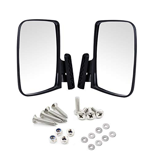 Universal Golf Cart Side View Mirrors for EzGo Club Car Yamaha, Moveland  RHOX UTV Style Accessories