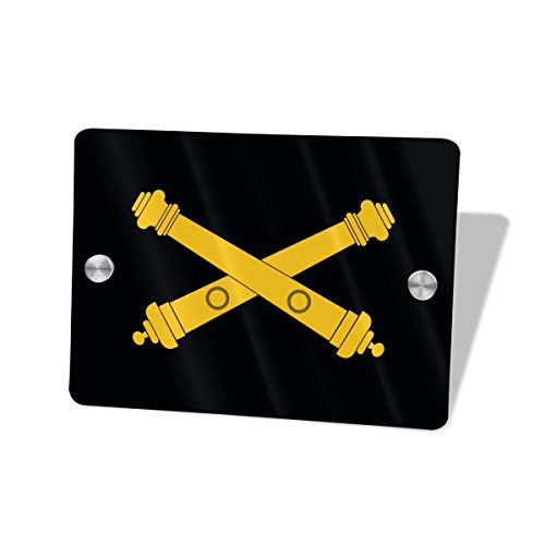 - YUSGWQUV US Army Field Artillery Decorative Hanging Sign Name Plate Sign Front Door Home Decor 5.5 X 7.5 Inch