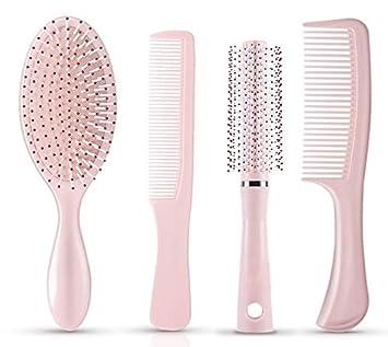 Amazon.com: Juego de 4 cepillos de pelo para desenredar y ...