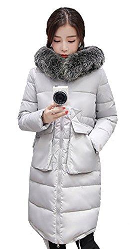 ASCHOEN - Abrigo - Manga Larga - para mujer gris claro