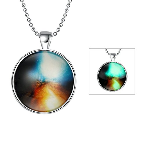 Gnzoe Women Pendant Necklace Chain for Holloween Party Ice and Mars ()