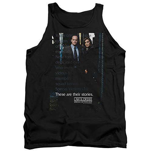 Law and Order SVU SVU Unisex Adult Tank Top for Men and Women, Medium Black