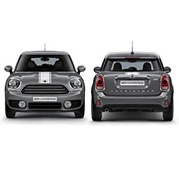 Mini Genuine Hood Trunk Sport Stripes Decal Adhesive Body Set White