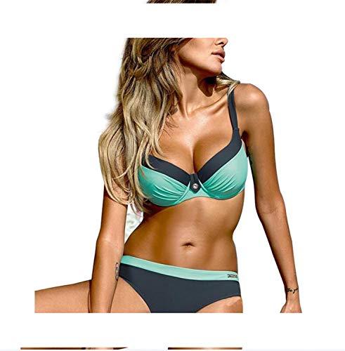 Sexy Push Up Bikini New Women Swimwear Print Biquini Bikinis H Color M