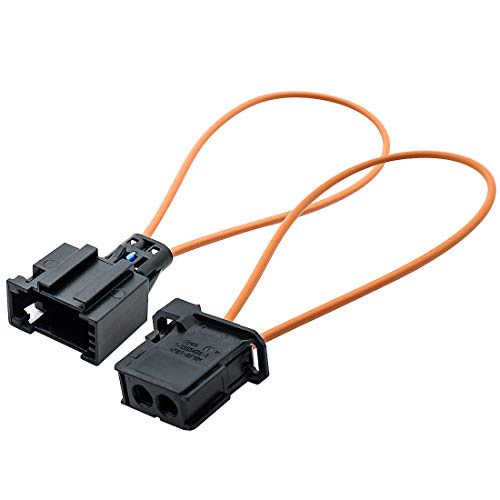 YIOVVOM Fiber Most Optic Loop Connector Diagnostic Device Tool Bypass Female And Male Adapter For Benz Audi Mercedes BMW VW Porsche Mercedes Benz, Audi, VW, Porsche Pack of 2