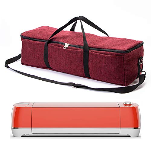 Portable Carrying Bag Compatible with Cricut Explore Air 2, Cricut Maker, Cricut Explore Air and Supplies, Heavy Duty Durable Tote Carrying Case, Die-Cut Machines Storage Bag (red Wine)