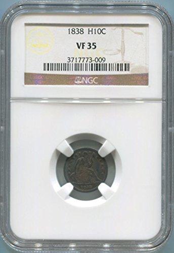 1838 P Bust Half Dime Half Dime VF35 NGC