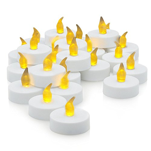 [20-Pack] Flameless LED Tea Light Candles, Realistic, Battery Powered, Unscented LED Candles, (Wholesale Country Air Scented Candle)