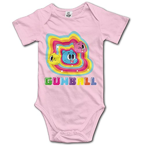 Grace Little The Amazing World Of Gumball Unisex Particular Newborn Baby Romper Baby Boy Playsuit 12 Months Pink