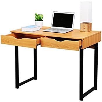 amazon com langria office computer desk modern pc laptop table
