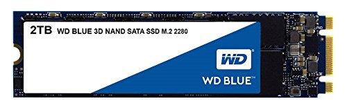 WD Blue 3D NAND 2TB PC SSD - SATA III 6 Gb/s, M.2 2280 - WDS200T2B0B