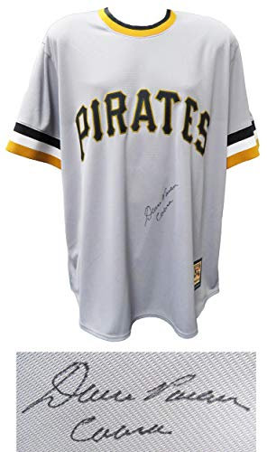 Signed Dave Parker Jersey - Grey Throwback Cooperstown Collection Majestic Replica w Cobra - Autographed MLB Jerseys