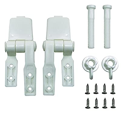 Aqua Plumb Aqua Plumb 0909 Plastic Toilet Seat Hinges - Poly Bagged Two Pack