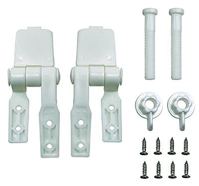 Aqua Plumb Aqua Plumb 0909 Plastic Toilet Seat Hinges - Poly Bagged Two Pack