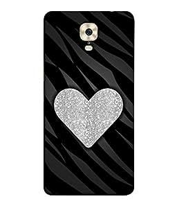 PrintVisa Designer Back Case Cover for Gionee M6 Plus (Artistic Design Of Heart In Silver)