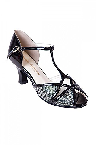 Black Ballroom Shoes Electric Karen Peep Toe Social wYqzdAx4