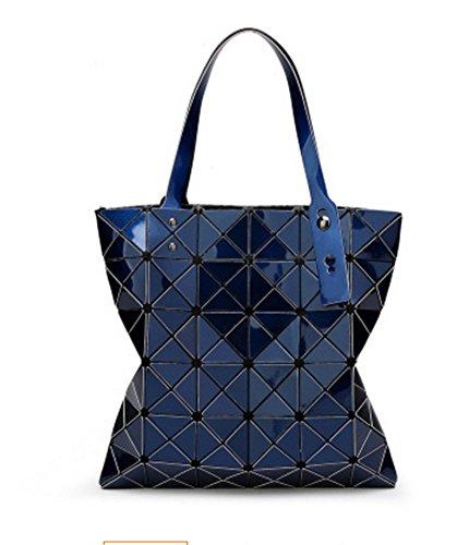 Diamond Bolso Blue De Silver Lingge Geometry Lady Hombro La Navy Bao Moda Bag Personalidad qZIUAdd