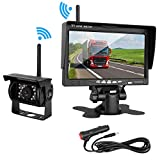 ZSMJ Wireless Backup camera Rear view Camera System 7'' Display TFT Monitor Wide View Angle IP69K waterproof Night Vision for /Truck /Pickup /Van /Caravan /Trailers /Camper