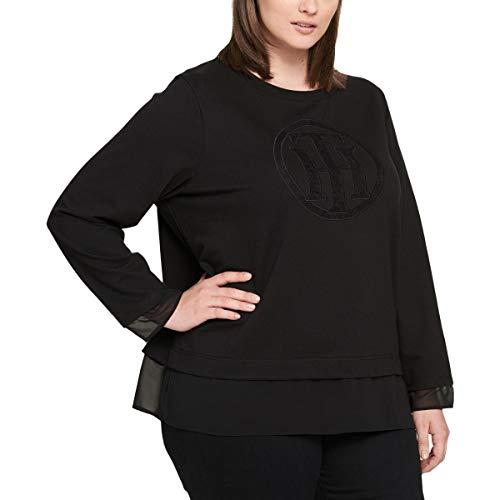- Tommy Hilfiger Womens Plus Jewel Neck Illusion Sweatshirt Black 2X