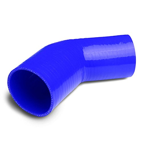 lbow Turbo/Intercooler/Intake Piping Coupler Reducer Silicone Hose (Blue) ()