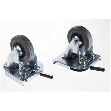 Amazon.com: ZARGES - Juego de 2 ruedas fijas para estuches ...