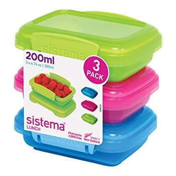 Sistema Lunch Collection Food Storage Containers Assorted Colors 6.7 Ounce Set of 3  sc 1 st  Amazon.com & Amazon.com: Sistema Lunch Collection Food Storage Containers ...