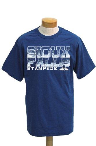 NCAA Sioux Falls Stampede Men's Acho Short Sleeve T-Shirt (Royal, XX-Large)]()