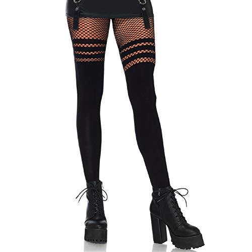 Leg Avenue Womens Opaque Faux Thigh High Tights