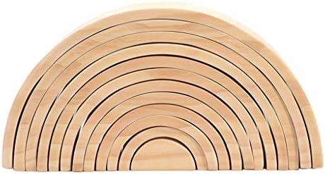 N/A 12pcs Juguete Montessori Bloque de Construcción de Madera sin Pintar de Bricolaje para Niños: Amazon.es: Juguetes y juegos